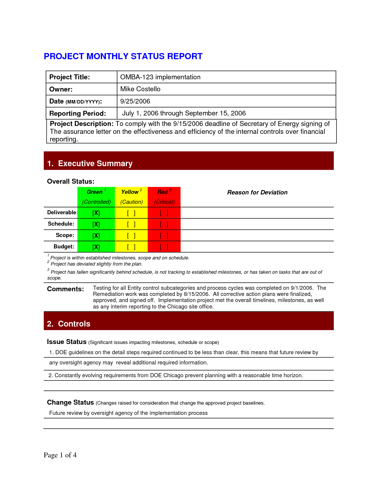 Pinlesedi Matlholwa On Templates | Project Status Report Throughout Project Implementation Report Template