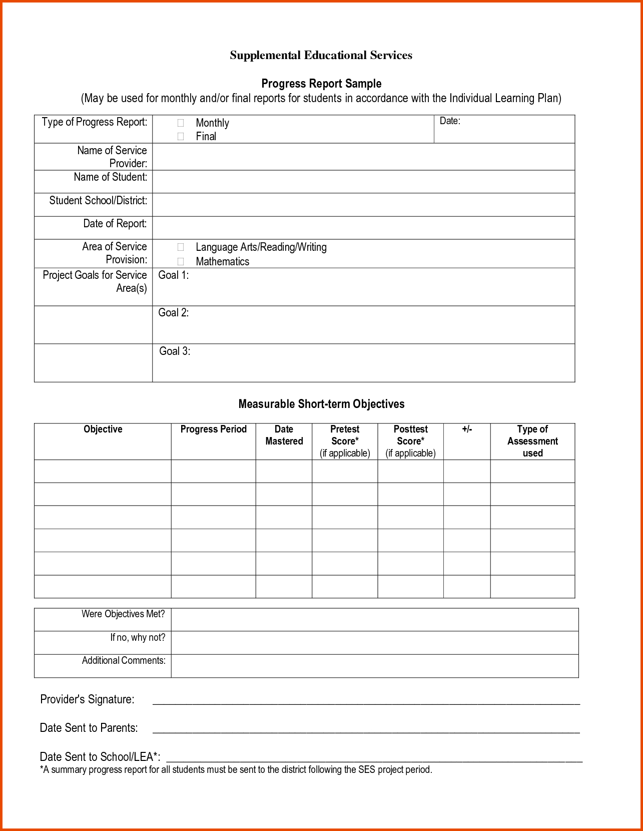 Pinmaricarl Carranza On Sample Progress Report Within Homeschool Middle School Report Card Template