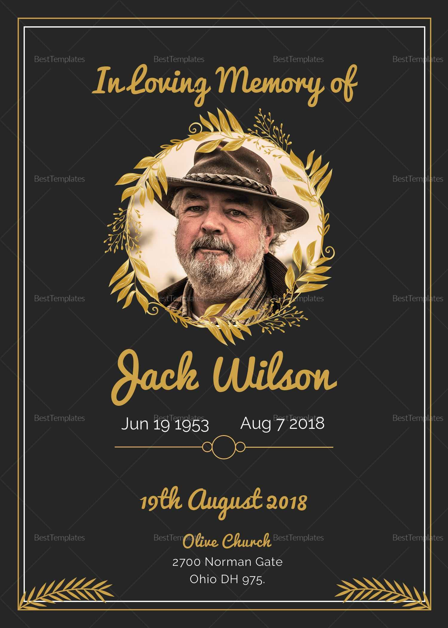Pino Free Jay On Celebration Of Life | Funeral Within Funeral Invitation Card Template