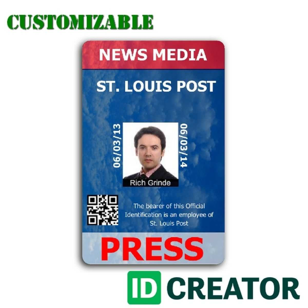 Pinrandell Fisco On Saved   Id Badge Maker, Badge Maker Pertaining To Media Id Card Templates