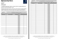 Pinririn Nazza On Free Resume Sample | Free Resume in Blank Sponsorship Form Template
