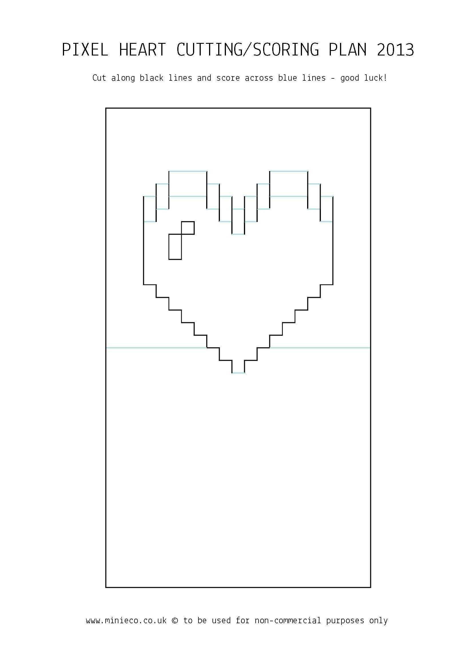 Pixel Heart Pop Up Card | Pop Up Card Templates, Heart Pop Pertaining To Pixel Heart Pop Up Card Template