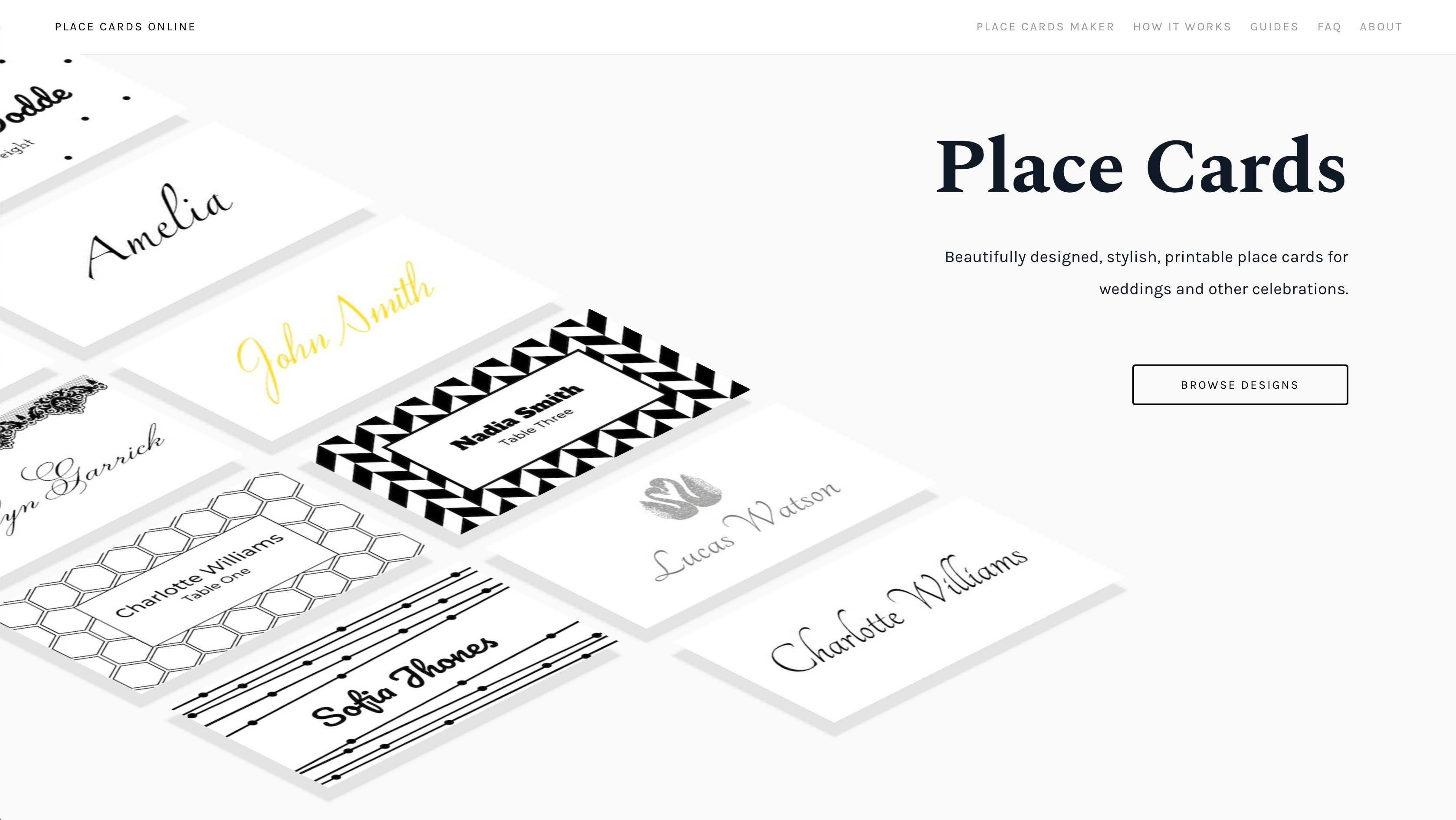 Place Cards Online - Place Cards Maker. Beautifully Designed Pertaining To Celebrate It Templates Place Cards