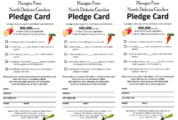 Pledge Sheet Template | Glendale Community with Free Pledge Card Template
