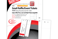 Pm Sku: Lts805B6Wh) – Raffle Tickets, Numbered, White, 2 1/8 inside Blanks Usa Templates