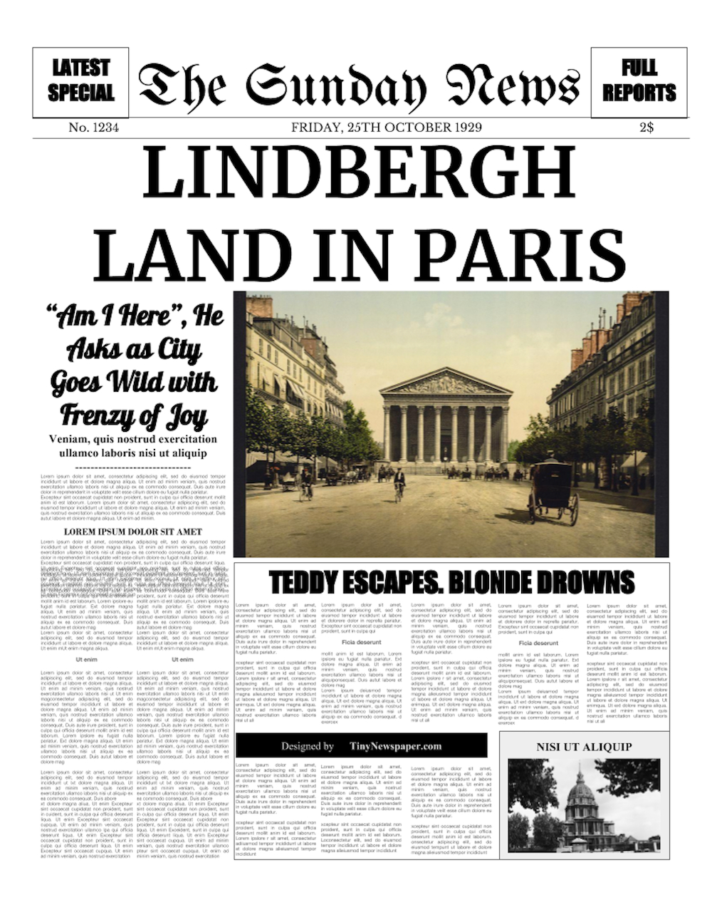 Powerpoint Newspaper Template In Newspaper Template For Powerpoint