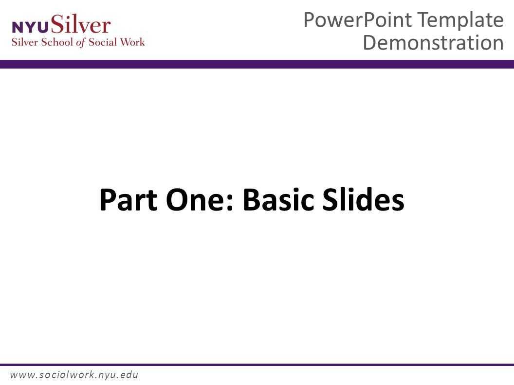 Powerpoint Template Demonstration Dr. John Smith Nyu Silver Regarding Nyu Powerpoint Template