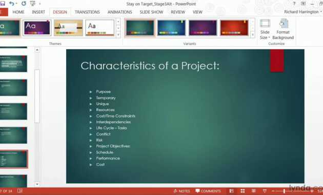 Powerpoint Tutorial: How To Change Templates And Themes | Lynda throughout How To Edit Powerpoint Template