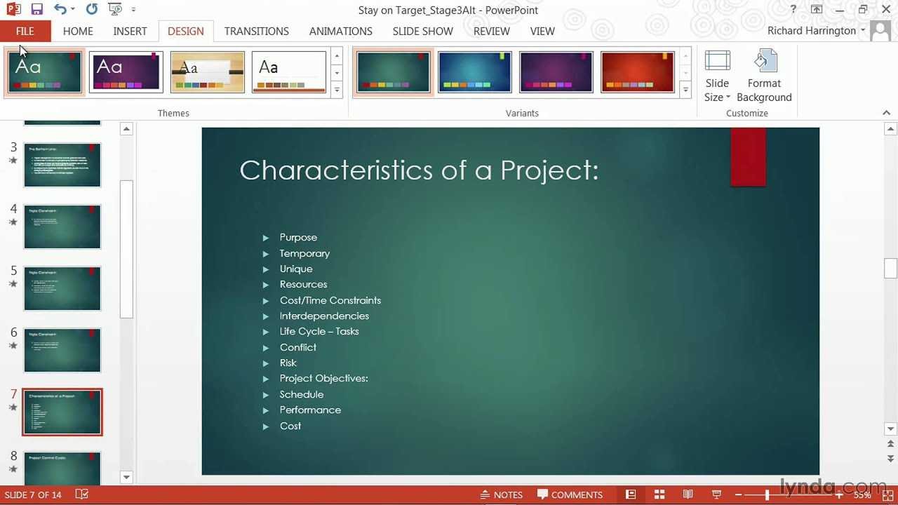 Powerpoint Tutorial: How To Change Templates And Themes | Lynda With How To Change Powerpoint Template