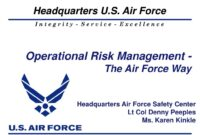 Ppt – Operational Risk Management – The Air Force Way with regard to Air Force Powerpoint Template