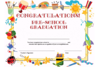 Preschool Graduation Certificate Template Free Pertaining To 5Th Grade Graduation Certificate Template
