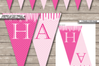 Princess Party Banner Template – Pink throughout Diy Party Banner Template