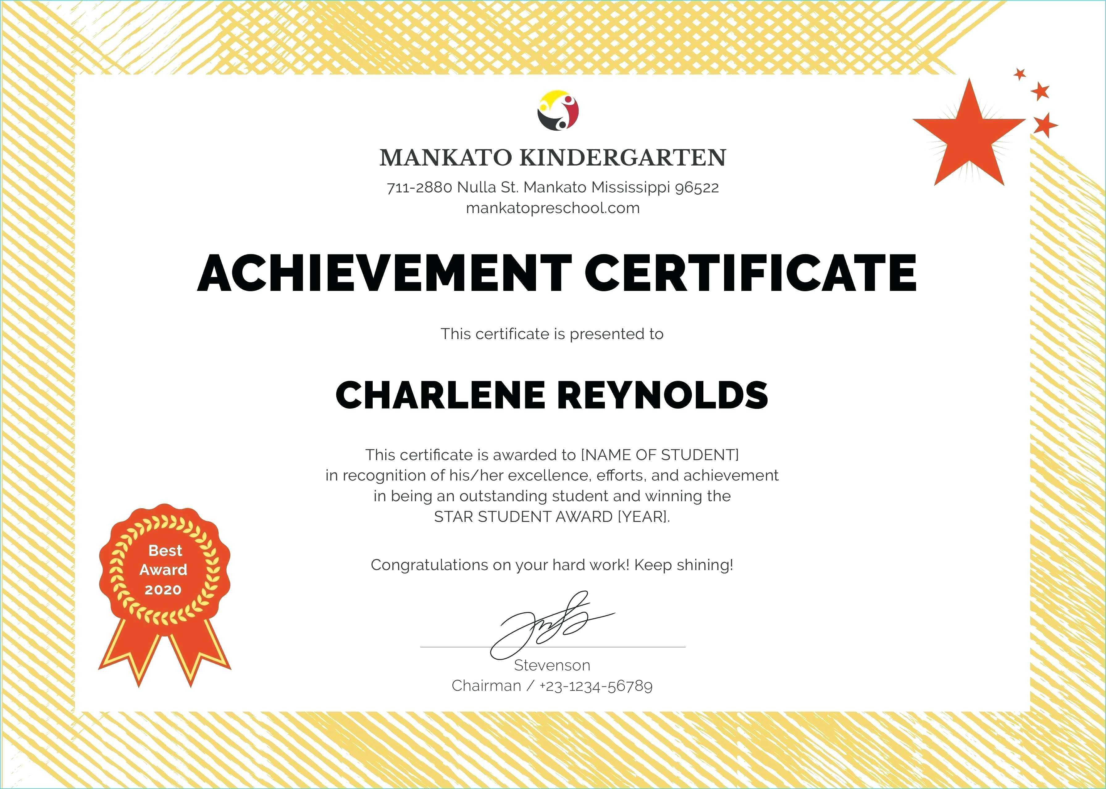 Printable Award Certificates – Bluedotsheet.co For Star Award Certificate Template