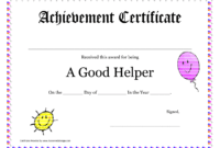 Printable Award Certificates For Teachers | Good Helper Inside 5Th Grade Graduation Certificate Template