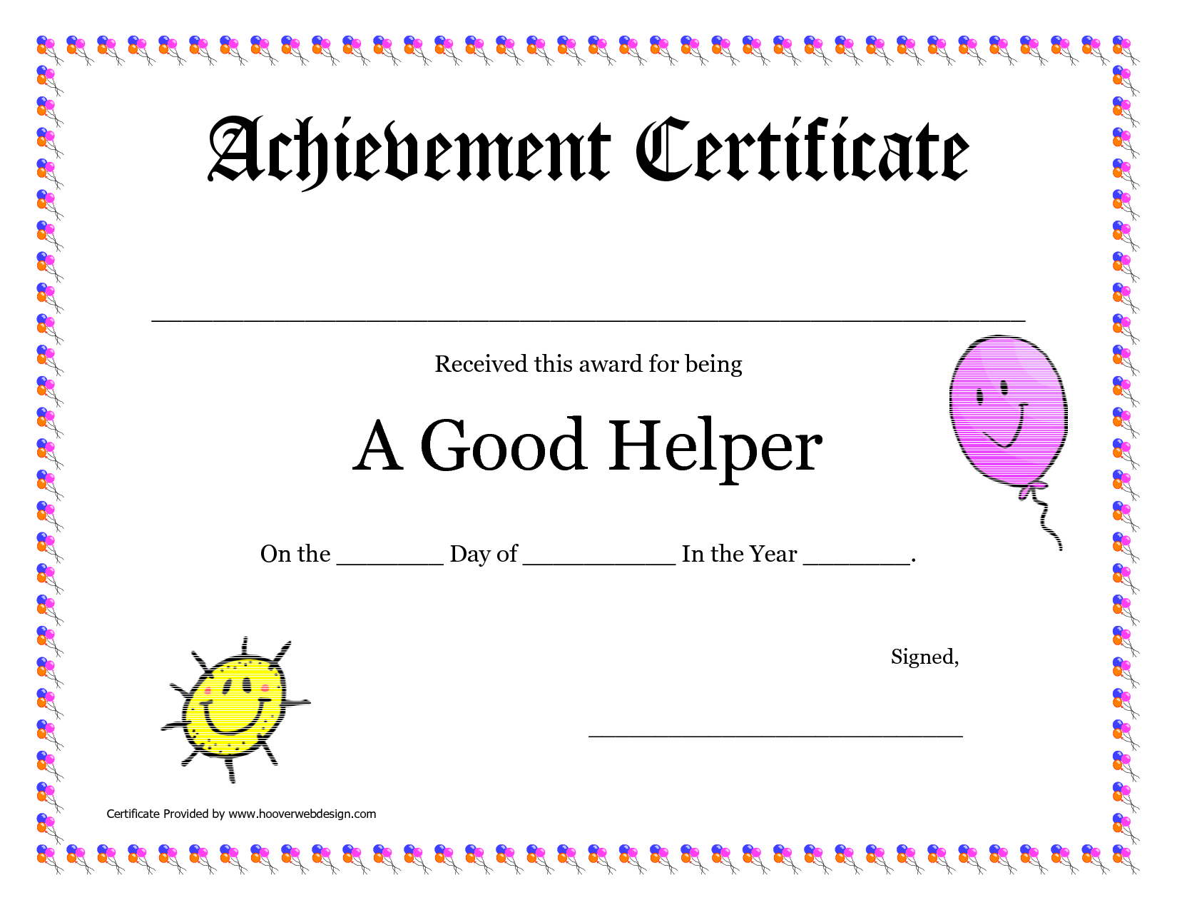 Printable Award Certificates For Teachers | Good Helper Throughout Free Printable Student Of The Month Certificate Templates