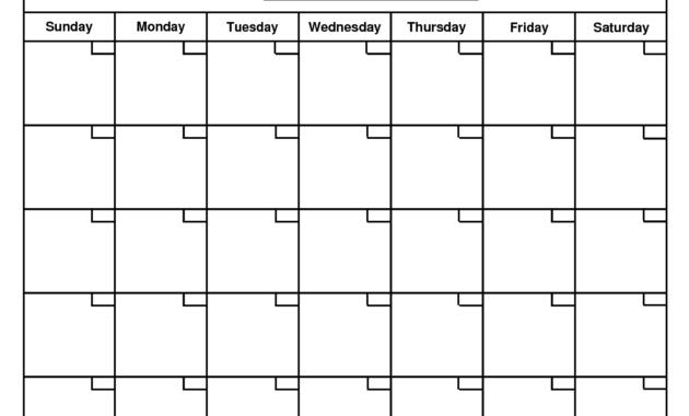 Printable Blank Calendar Template … | Organizing | Printable with Blank Calender Template