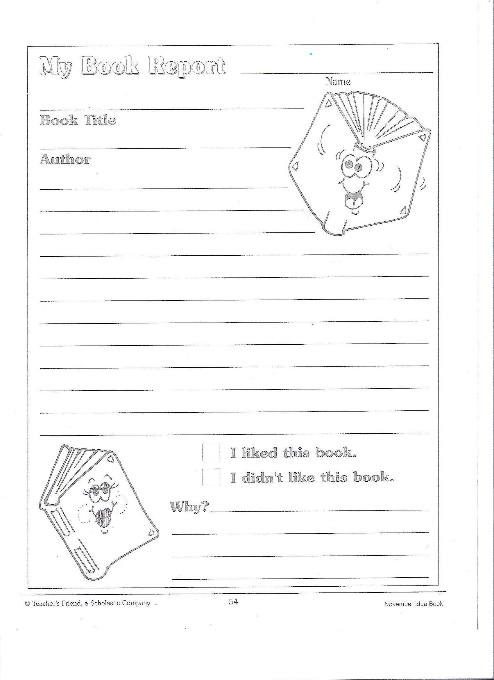 Printable Book Report Forms | Miss Murphy's 1St And 2Nd With 1St Grade Book Report Template