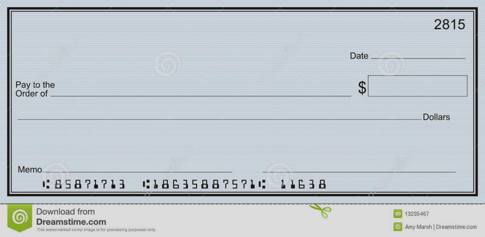 Printable Checks For Inspirational Customizable Blank Check For Customizable Blank Check Template