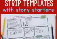 Printable Comic Strip Templates With Story Starters – Frugal intended for Printable Blank Comic Strip Template For Kids