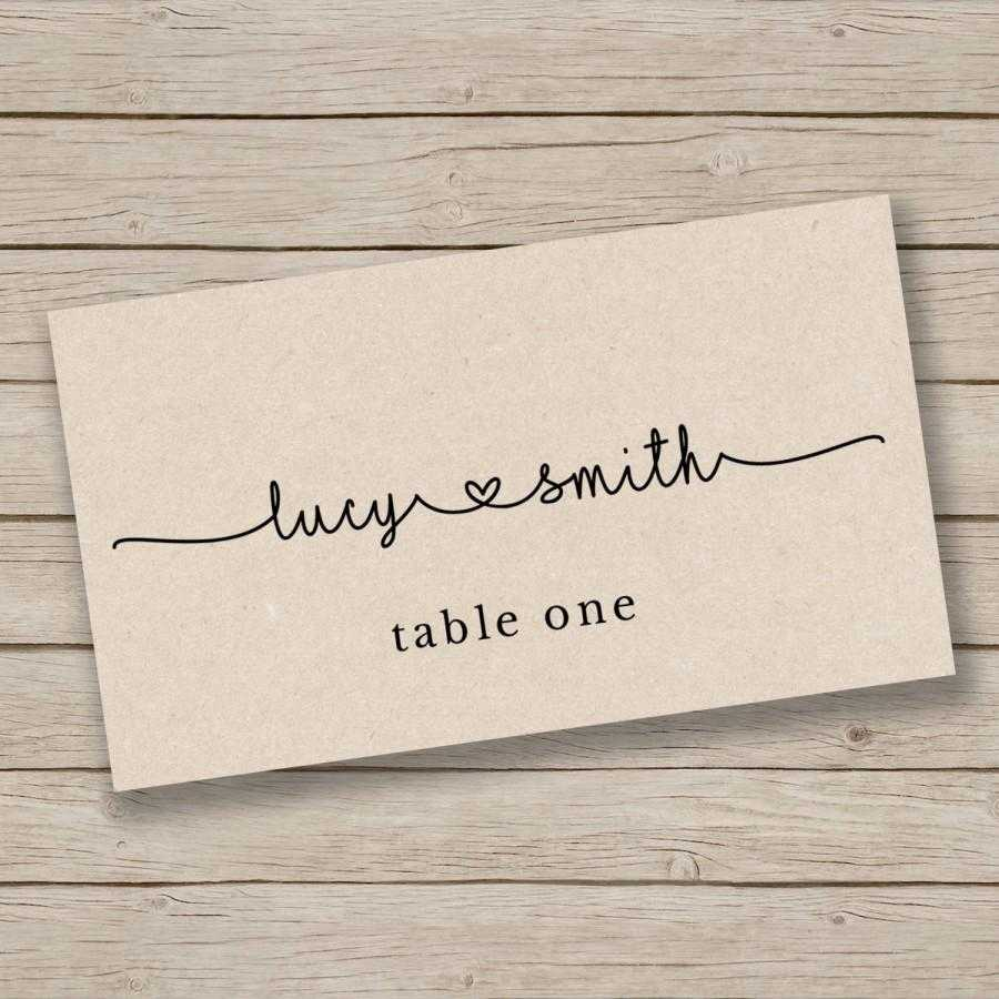 Printable Escort Card Template - Place Card Template - Tent For Ms Word Place Card Template