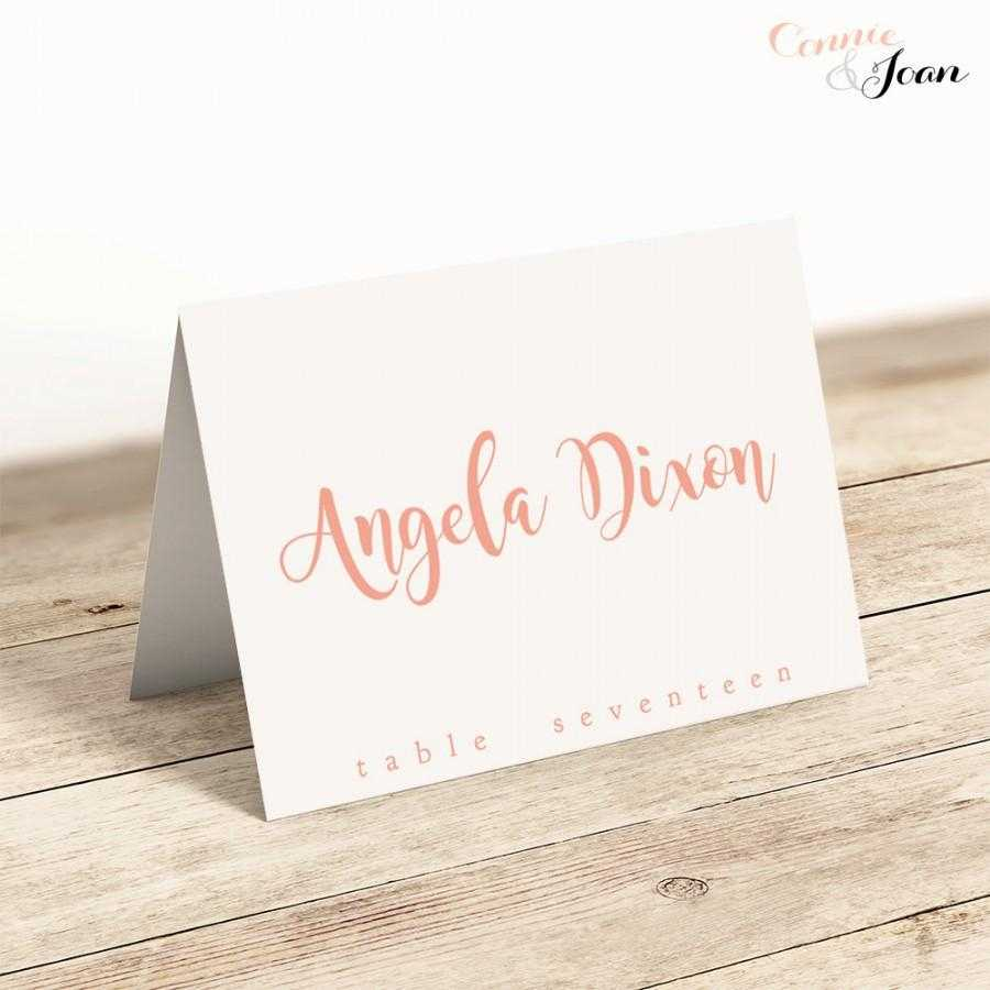 Printable Folded Place Cards Table Name Cards Template Regarding Table Name Card Template