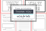 Printable Thank You Cards For Kids – The Kitchen Table Classroom within Thank You Note Card Template