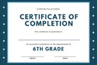 Printed Certificates With 5Th Grade Graduation Certificate Intended For 5Th Grade Graduation Certificate Template