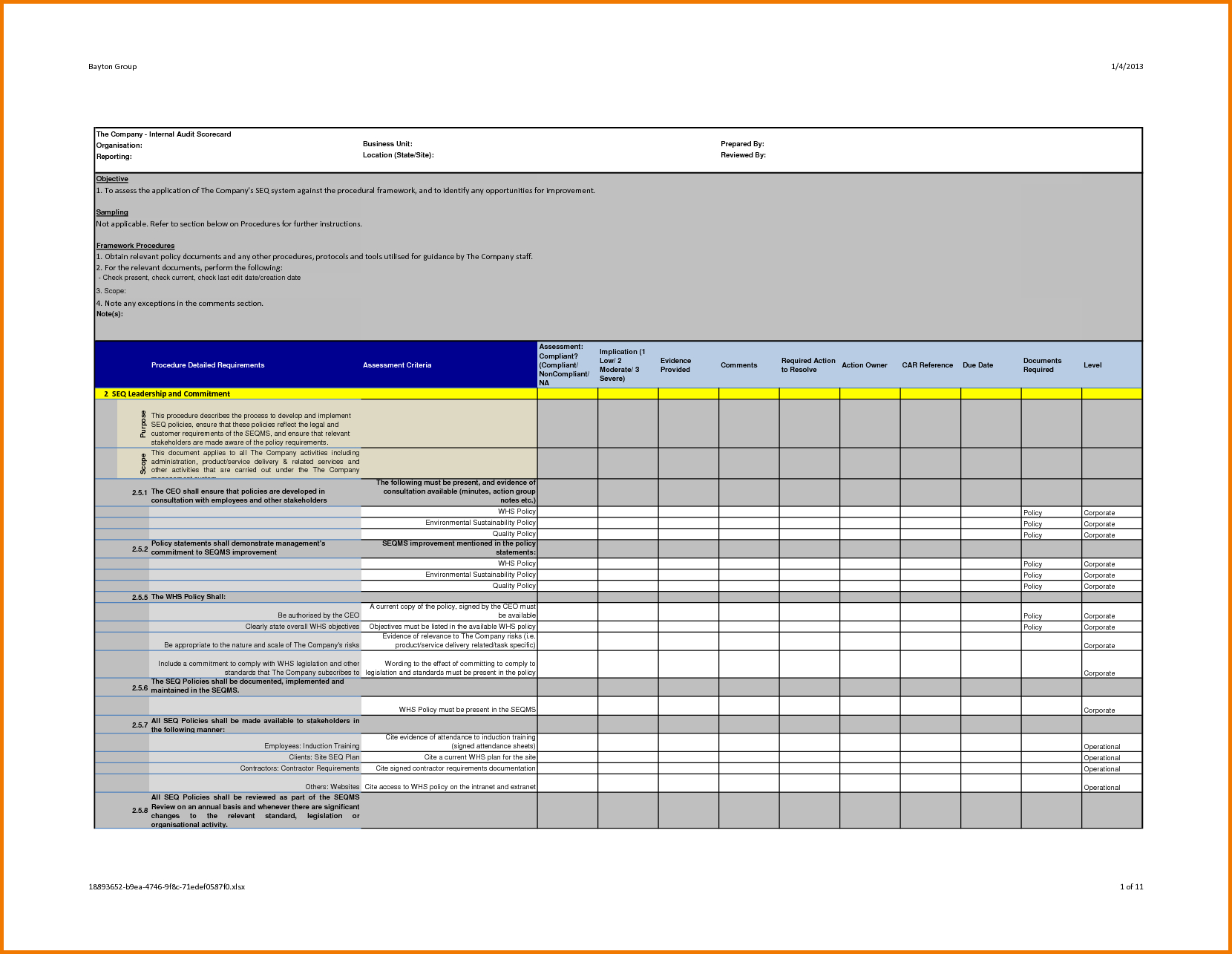 Professional Internal Audit Report Template Example With With Llc Annual Report Template