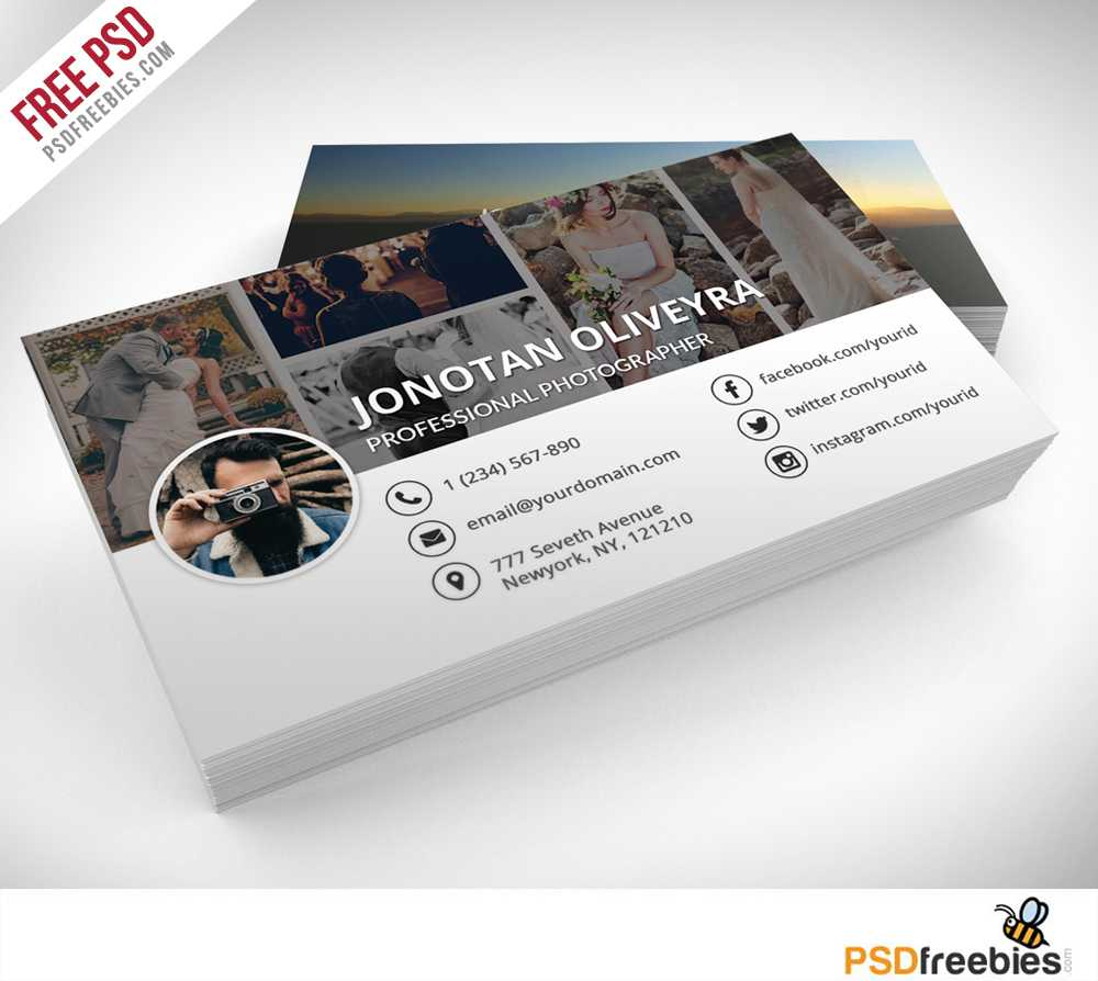 Professional Photographer Business Card Psd Template Freebie Throughout Free Business Card Templates For Photographers