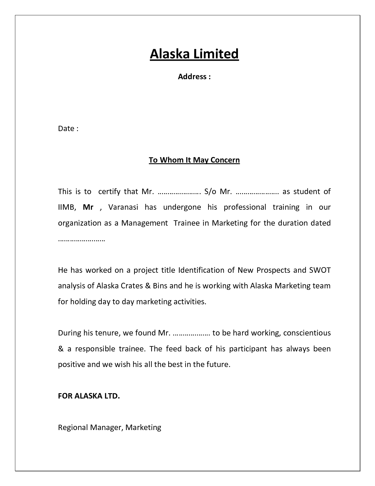 Project Completion Certificate Template   Cover Latter For Certificate Template For Project Completion