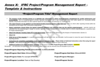 Project/programme Report Template With Regard To M&e Report Template