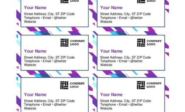 Purple Graphic Business Cards regarding Business Cards Templates Microsoft Word