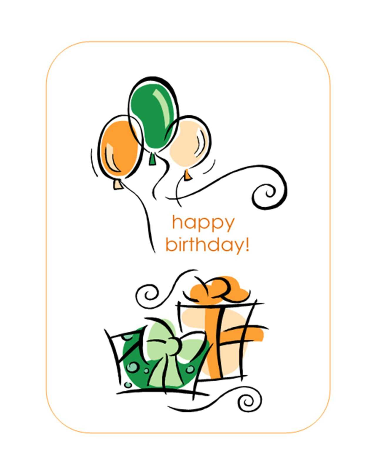 Quarter Fold Birthday Card Template - Atlantaauctionco For Quarter Fold Birthday Card Template