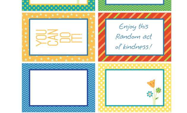 Random Act Of Kindness Free Printables | Carla Schauer Designs intended for Random Acts Of Kindness Cards Templates
