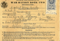 Ration Books | The National Wwii Museum | New Orleans pertaining to World War 2 Identity Card Template