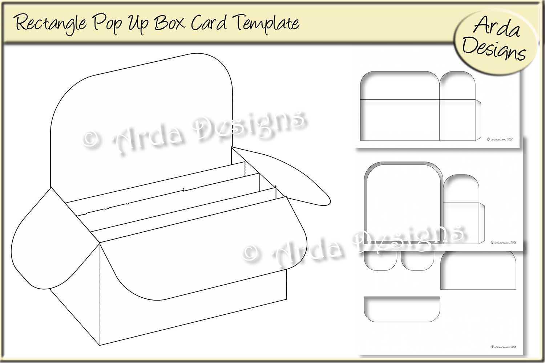 Rectangle Pop Up Box Card Cu Template Throughout Pop Up Box Card Template