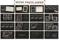 Retro Photo Album Ppt Templateblixa 6 Studios On in Powerpoint Photo Album Template