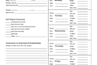 Sales Call Report Template – 3 Free Templates In Pdf, Word inside Daily Sales Call Report Template Free Download