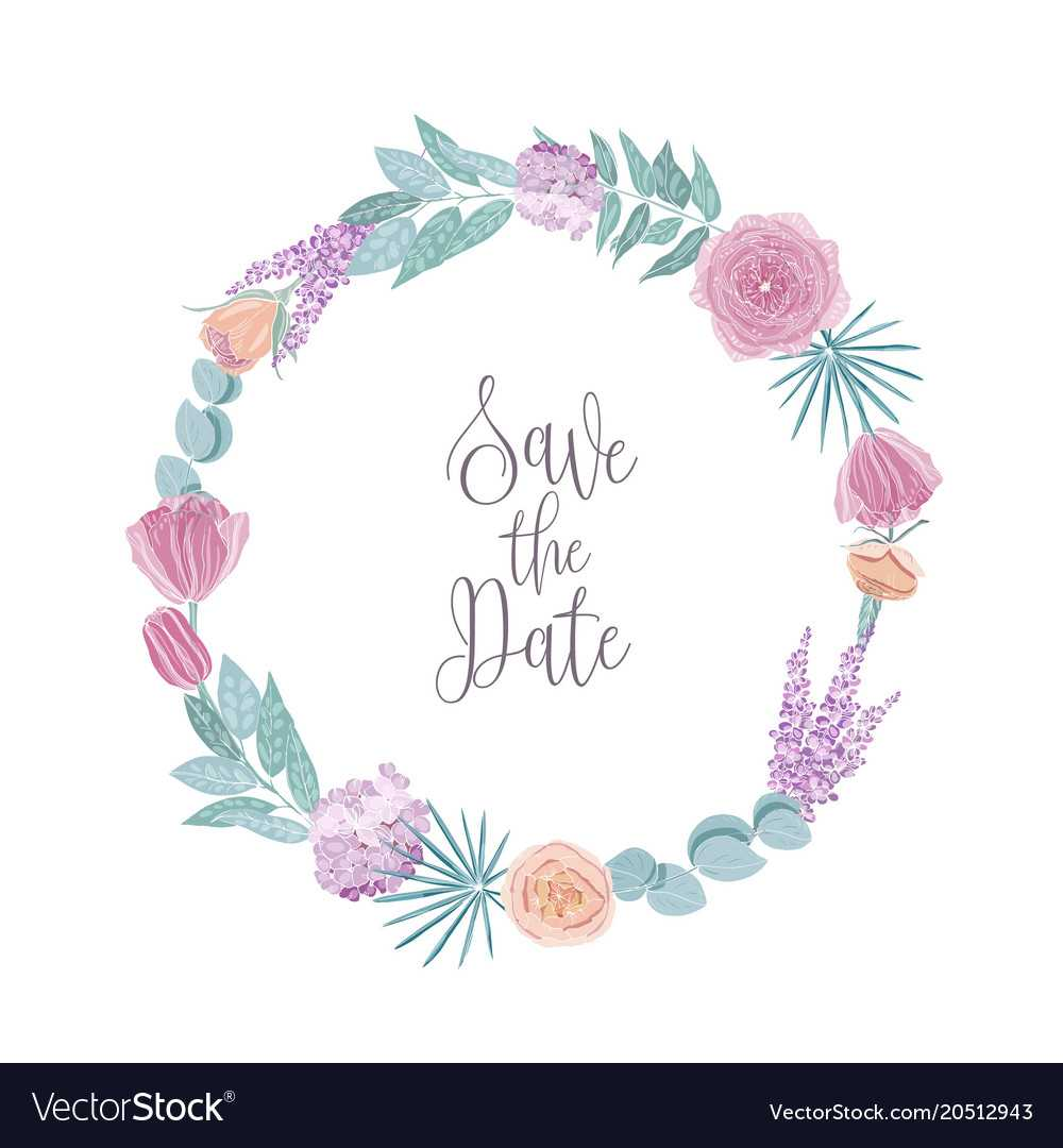 Save The Date Card Template Decorated With Round Pertaining To Save The Date Cards Templates
