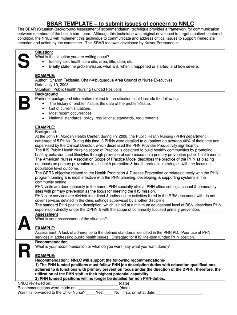 Sbar Free Printable - Fill Online, Printable, Fillable Pertaining To Sbar Template Word