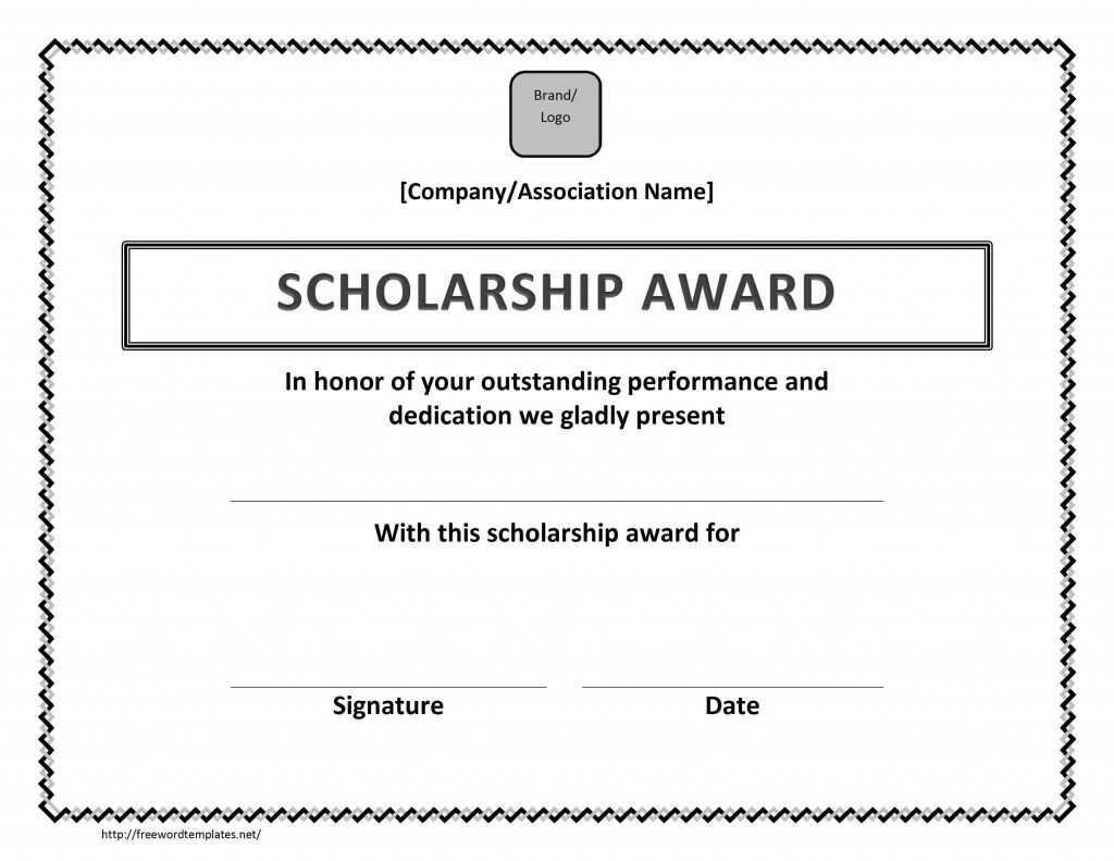 Scholarship Award Certificate Template   Scholarship Inside Scholarship Certificate Template