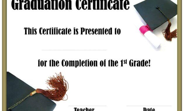 School Graduation Certificates   Customize Online With Or with 5Th Grade Graduation Certificate Template