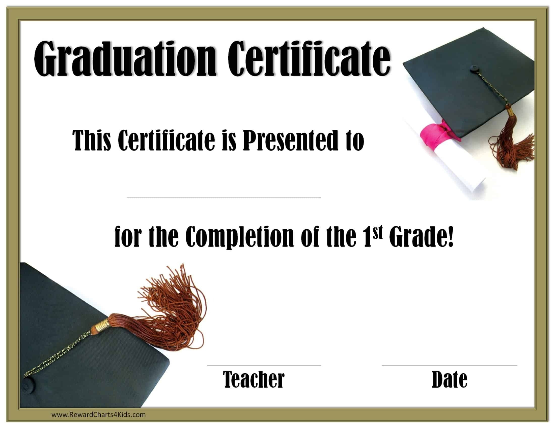 School Graduation Certificates | Customize Online With Or With 5Th Grade Graduation Certificate Template