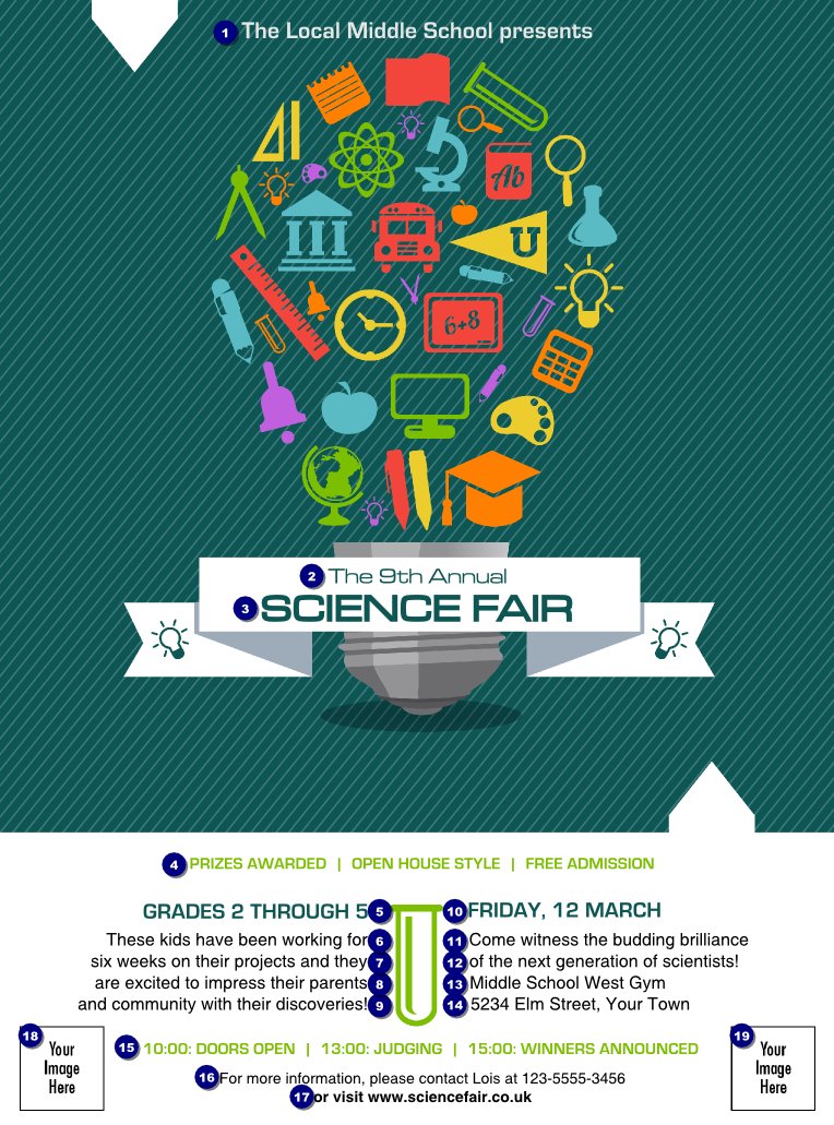 Science Fair Flyer | Science Fair Flyer - Ticket Printing With Regard To Science Fair Banner Template