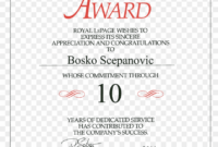 Service Awards Certificates Template – Royal Lepage, Hd Png throughout Certificate For Years Of Service Template