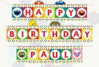 Sesame Street Printable Birthday Banner With Name within Sesame Street Banner Template