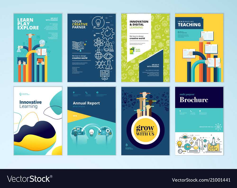 Set Of Brochure Design Templates Of Education With Regard To Brochure Design Templates For Education