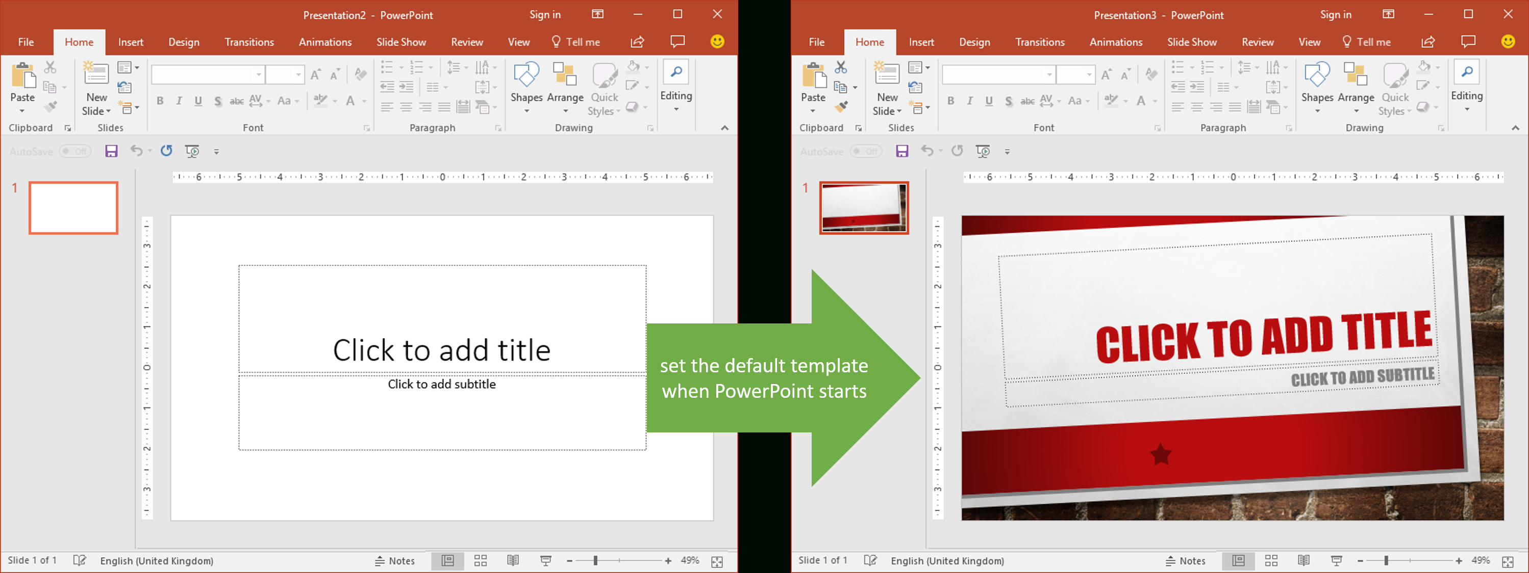 Set The Default Template When Powerpoint Starts | Youpresent Within Powerpoint Default Template