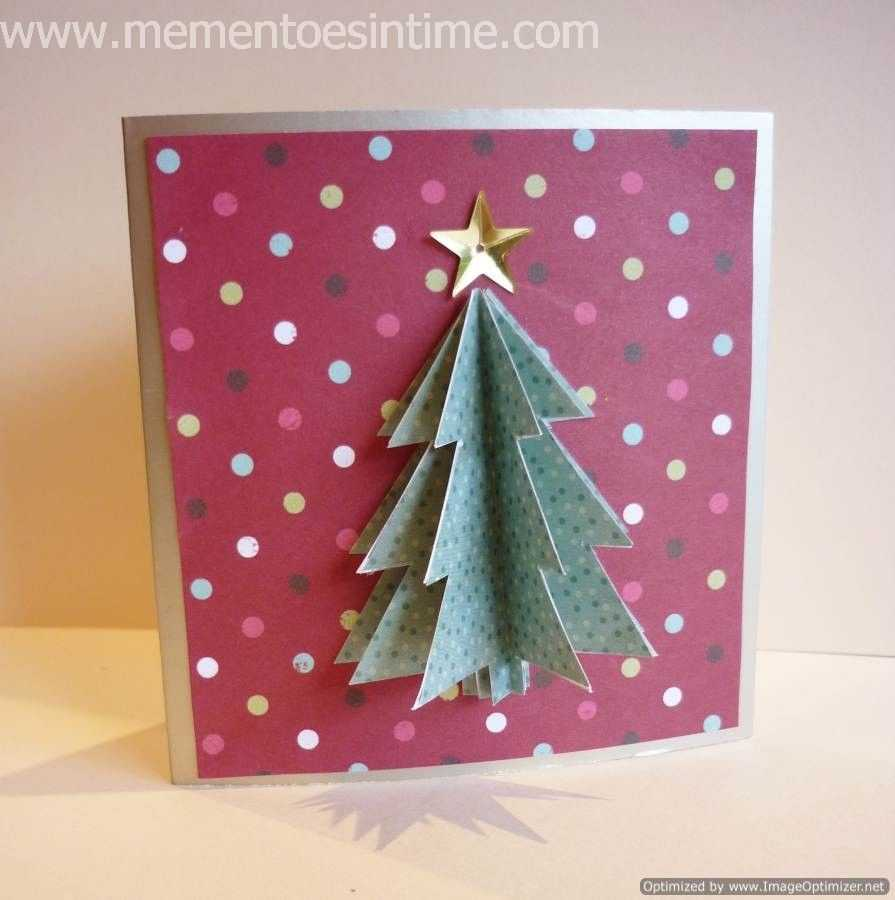 Simple 3D Christmas Card | Cut & Paste | Christmas Card Pertaining To 3D Christmas Tree Card Template