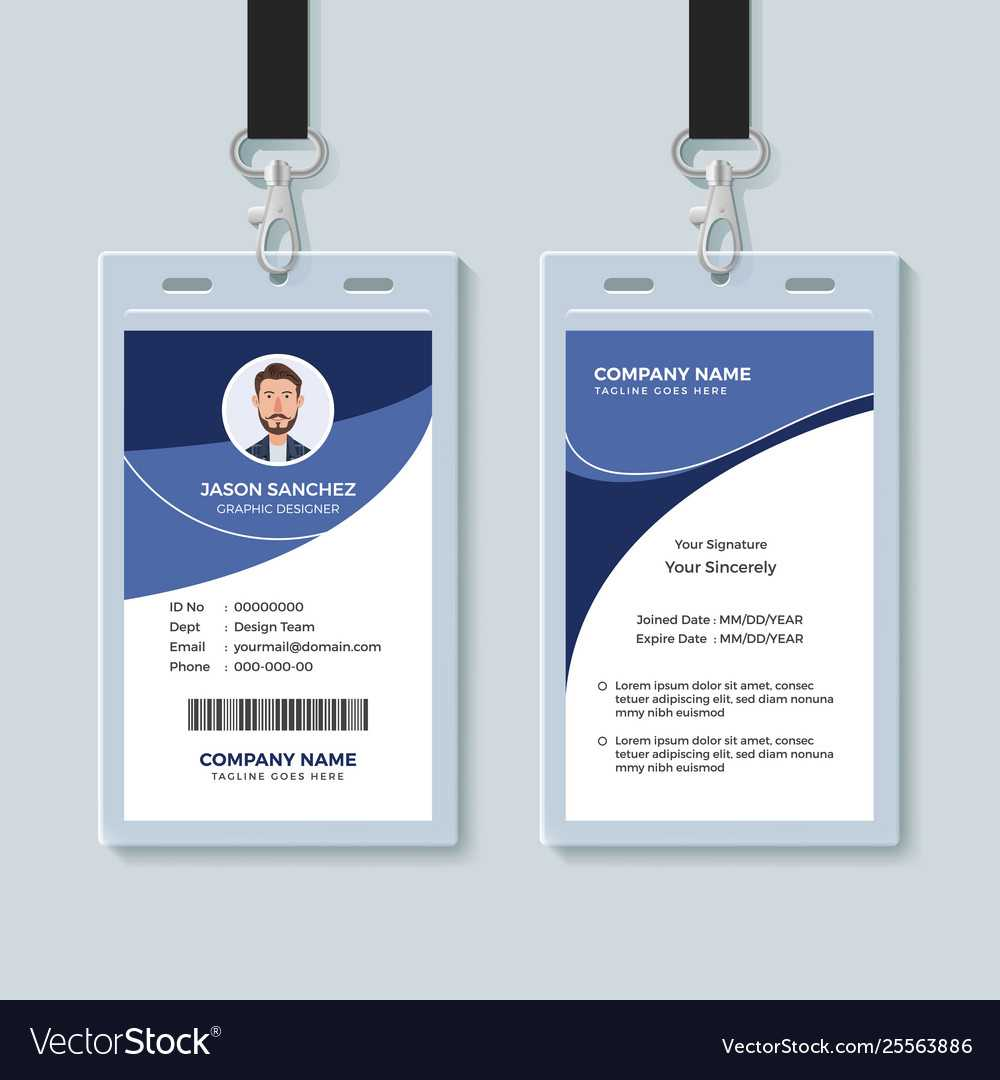 Simple Corporate Id Card Design Template With Regard To Company Id Card Design Template